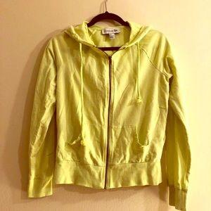 Yellow Zip-up Sweatshirt